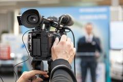 Conferência de imprensa spokesman imagem de stock royalty free