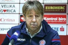 Conferência de imprensa Zoran Vulic fotografia de stock