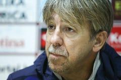 Conferência de imprensa Zoran Vulic fotografia de stock royalty free