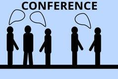 Conferência de negócio com discussões interessantes Foto de Stock