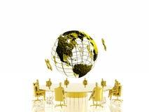 Conferência dourada. Imagem de Stock Royalty Free
