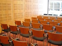 Conference 1. Landscape photo of conference room interior with shallow depth of field royalty free stock photo