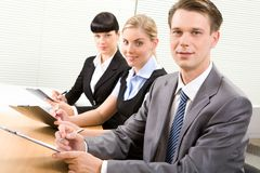 At conference Royalty Free Stock Image