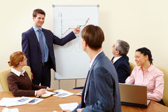 During conference Royalty Free Stock Image