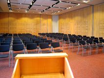 Conference 2. Landscape photo of conference room interior from lecturn stock photography