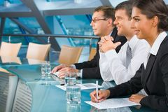 During a  conference Stock Photo