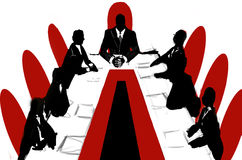 Conference. Boss conference [hand draw Royalty Free Stock Photos