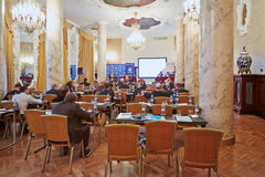 Conference Asset Management in Hotel Hilton Moscow Leningradskaya Stock Photography