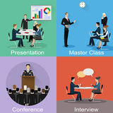 Conference banner set with business concept Stock Images