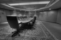 Conference board room table Stock Photography