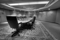 Conference board room table Royalty Free Stock Image