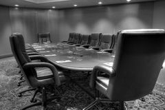 Conference board room table Royalty Free Stock Photography