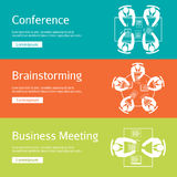 Conference, business meeting and brainstorming Stock Photos