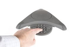 Conference business phone Stock Photography