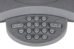 Conference business telephone dialpad Royalty Free Stock Photography