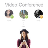 Conference Call Network Communication Concept. Conference Call Network Communication Technology Stock Photography