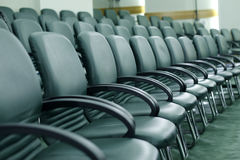 Conference chairs. In events hall royalty free stock photo