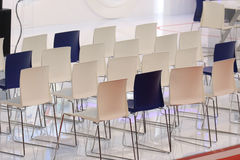 Conference chairs row Stock Images