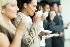Conference coffee break Stock Photo