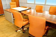 Conference desk Stock Photography