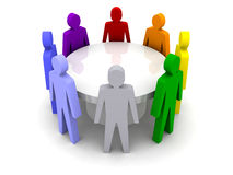 Conference of different people. Royalty Free Stock Photos