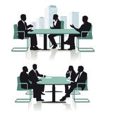 Conference discussion or interview Royalty Free Stock Photos