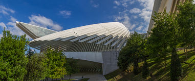 Conference and exhibition center Ciudad de Oviedo in Asturias Stock Images