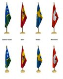 Conference flags Stock Images