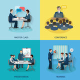 Conference Flat Set Royalty Free Stock Photo