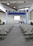 Conference forum. Conference center forum with video beam projector Stock Photography