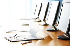 In conference hall Stock Image