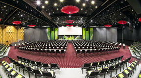 Conference hall. Big conference hall ready for use royalty free stock photo