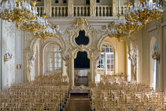 Conference hall. In old building in baroque style Royalty Free Stock Image