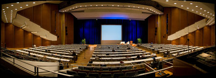 Conference Hall. Panoramic image of the Kulture Palast in Dresden Royalty Free Stock Photos