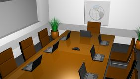 Conference hall. 3D conference hall of company Stock Photography
