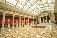 The conference hall with antique sculpture collected by Carl Jacobsen. COPENHAGEN, DENMARK - JUNE 15: The conference hall with antique sculpture collected by Stock Images