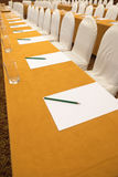 Conference hall before business meeting. Ready for auditory royalty free stock photography