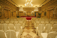 Conference hall in hotel Stock Photo