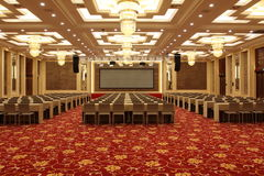 Conference hall in hotel. Luxurious conference hall in hotel stock images