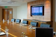 Conference hall Interior with big screen Royalty Free Stock Photos