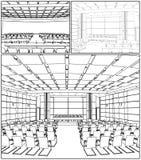 Conference Hall Interior Vector 01 vector illustration
