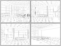 Conference Hall Interior Vector 02. Conference Hall Interior Isolated Illustration Vector Royalty Free Stock Photo