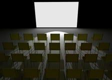 Conference hall like cinema Stock Photography