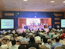 TheThe 2nd Business Partners Meet of HAL Helicopter Division, Bangalore, being inaugurated in June 2017. The conference hall at a popular Convention hosting the Stock Photo