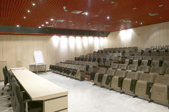 Conference hall with seats. Horizontal. Royalty Free Stock Image
