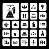 Conference icon set Royalty Free Stock Images