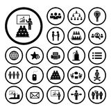 Conference icon set Stock Photo