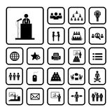 Conference icon set Stock Photography