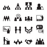 Conference icon set Royalty Free Stock Photo