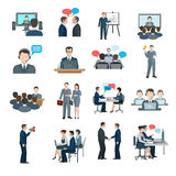 Conference Icons Flat Royalty Free Stock Images